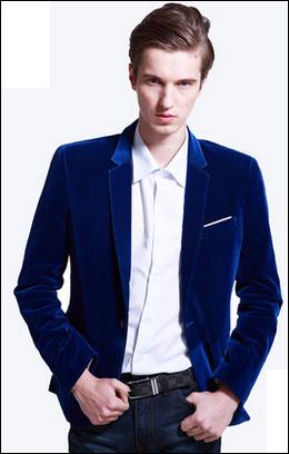 velvet royal blue blazer