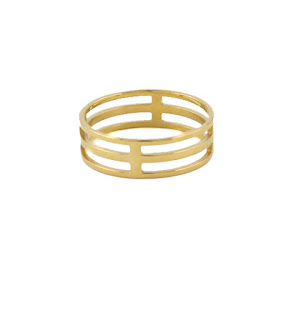 Gold Cage Ring
