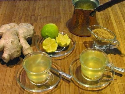Treating flu and cough with ginger tea Relieve congestion with ginger treatment health problems