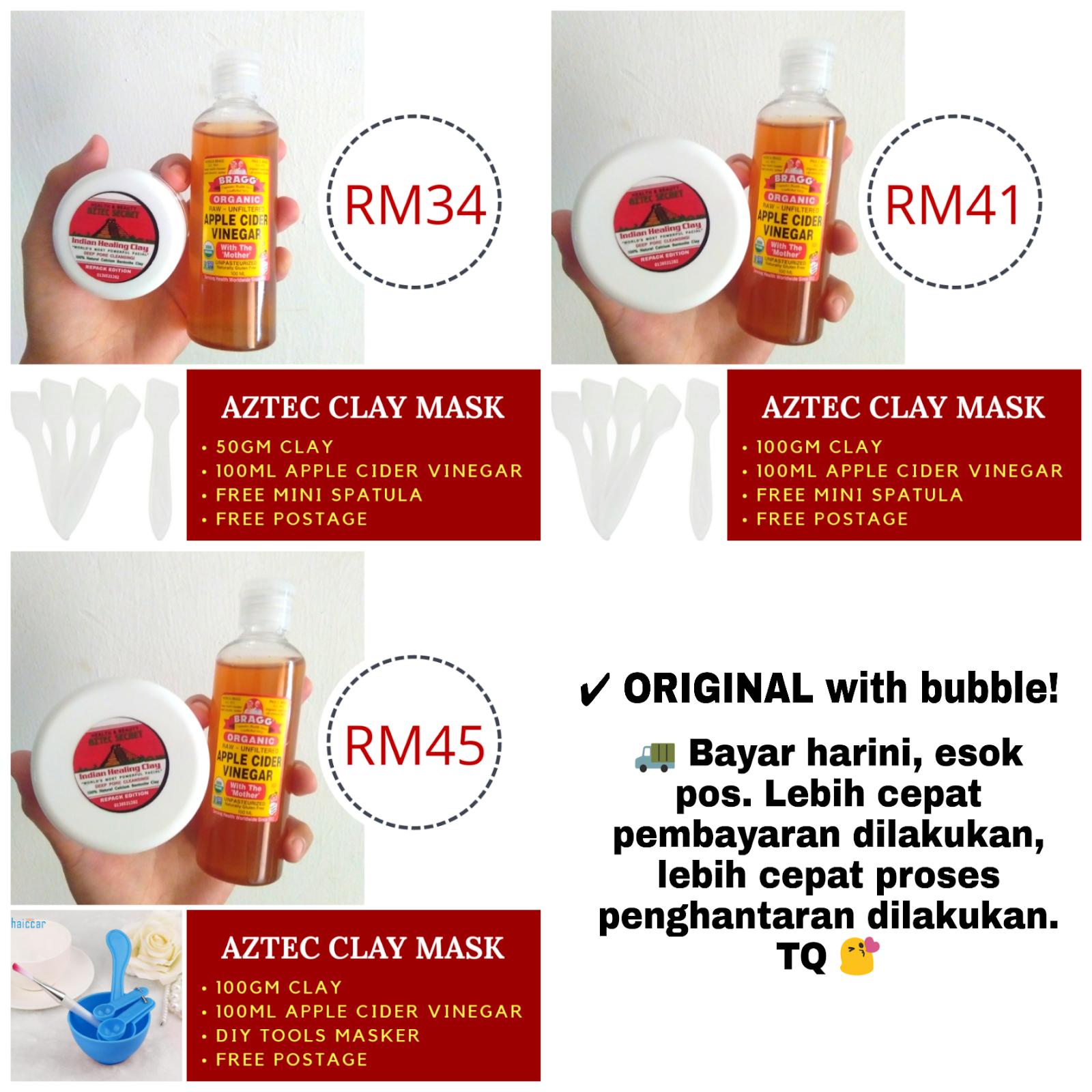 Beli Aztec Clay Mask Sini