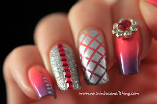 diamante nail art
