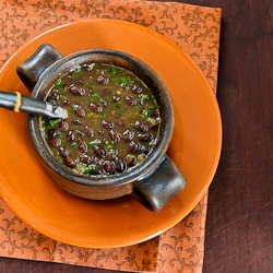 ... Recipe for Spicy Vegan Black Bean Soup with Cilantro and Green Tabasco