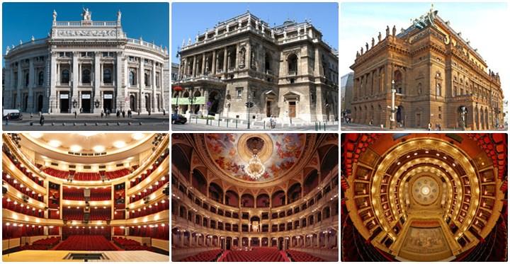 โรงละคร Burgtheater , โรงละคร Hungarian State Opera House และโรงละคร Prague State Opera