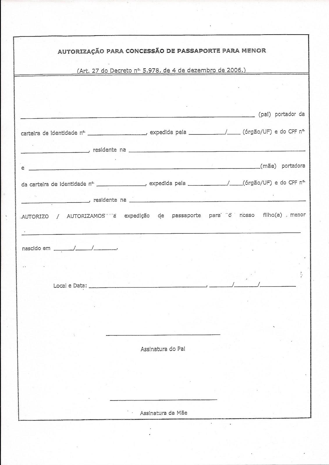 passport consent forms