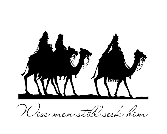 Three Wise Men Silhouette I do love this silhouette.