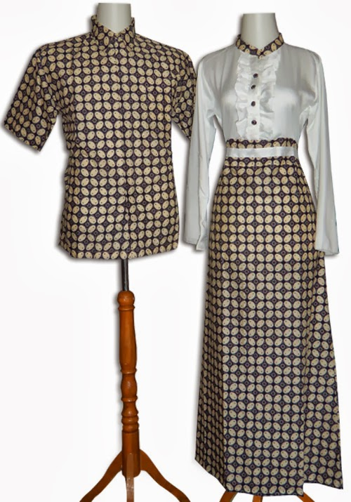 Batik Sarimbit Gamis Modern