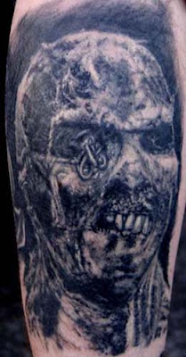 designs zombie tattoo