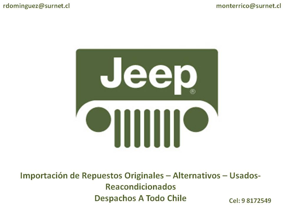 Repuestos Jeep Chile Originales Alternativos Reacondicionados Despachos A Todo Chile