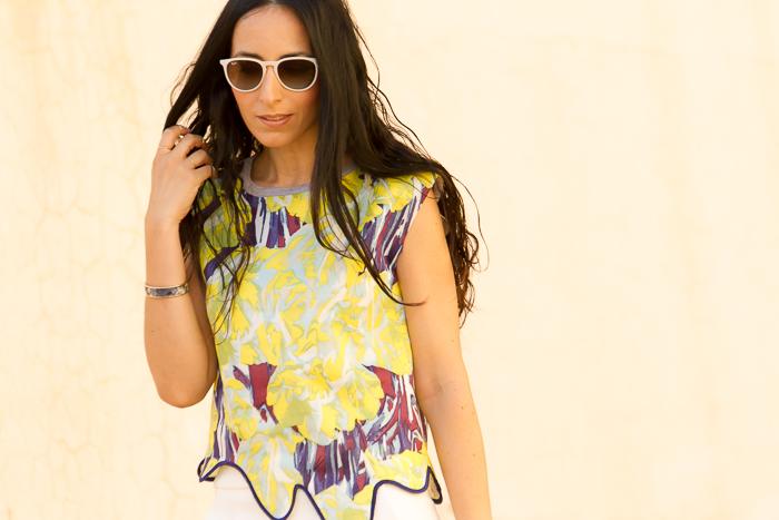 Look cómodo de verano con skorts de la blogger de moda valenciana withorwithoutshoes