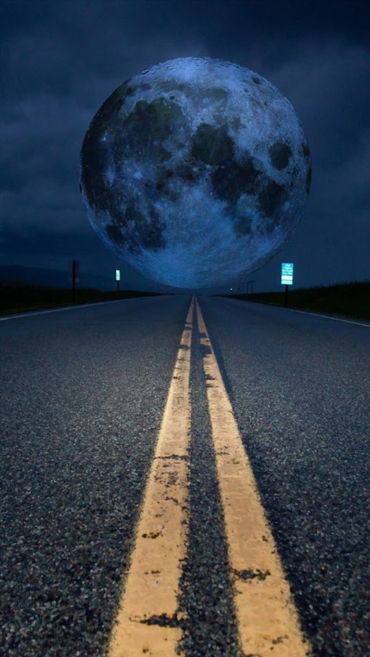 Road To Super Moon   Galaxy Note HD Wallpaper