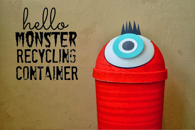 Mommy Testers DIY recycling bin, DIY Monster recycling bin, Monster recycling container, cute recycling bin, recycling bin for kids,