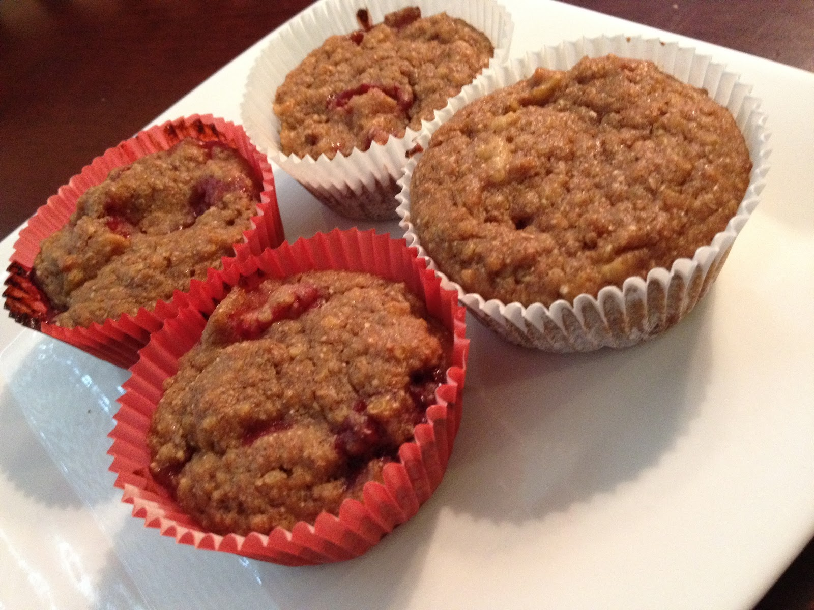 Eggless Sunday: Strawberry Banana Quinoa Muffins