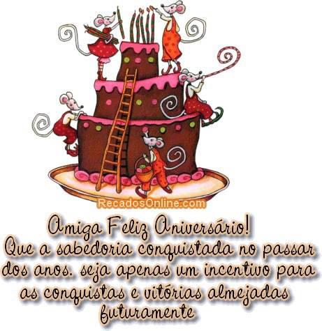 Amiga Feliz Aniversário