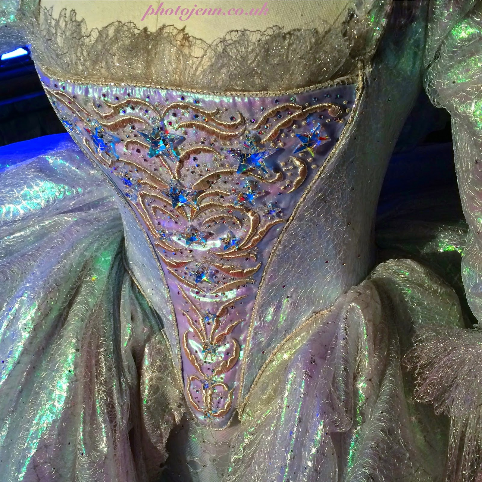 Cinderella-exhibition-london-movie-fairy-gosmother-costume-dress-detail