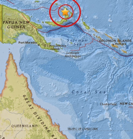 Magnitude 5.2 Earthquake of Rabaul, Papua New Guinea 2015-04-15