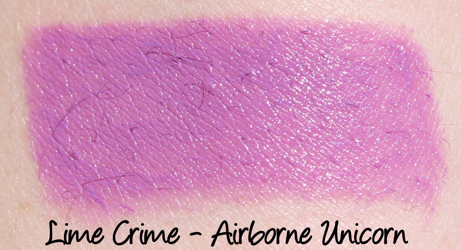 Lime Crime Airborne Unicorn Lipstick Swatch