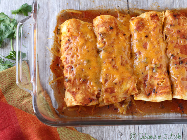 Pumpkin Enchiladas {Low-FODMAP, Gluten-Free, Vegetarian}  /  Delicious as it Looks