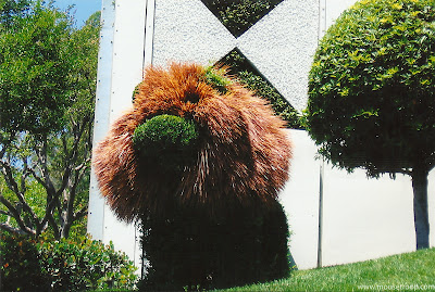 Disneyland Topiaries topiary Small World garden lion