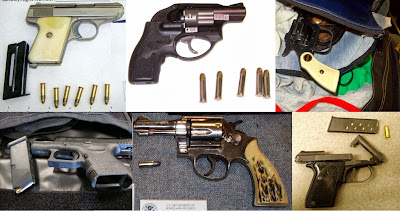 Guns Discovered at (Left to Right, Top to Bottom) BDL, BWI, STL, RAP, JAX, MGM