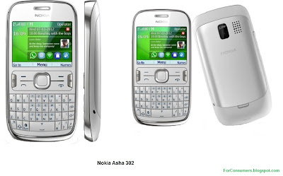 Asha 302 white