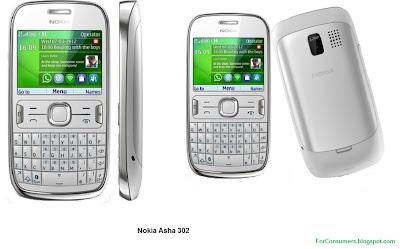 Asha 302 white