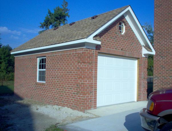 Brick driveway image brick built garages for Brick garages prices