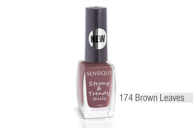 Sensique, Strong & Trendy Nails, 174 Brown Leaves