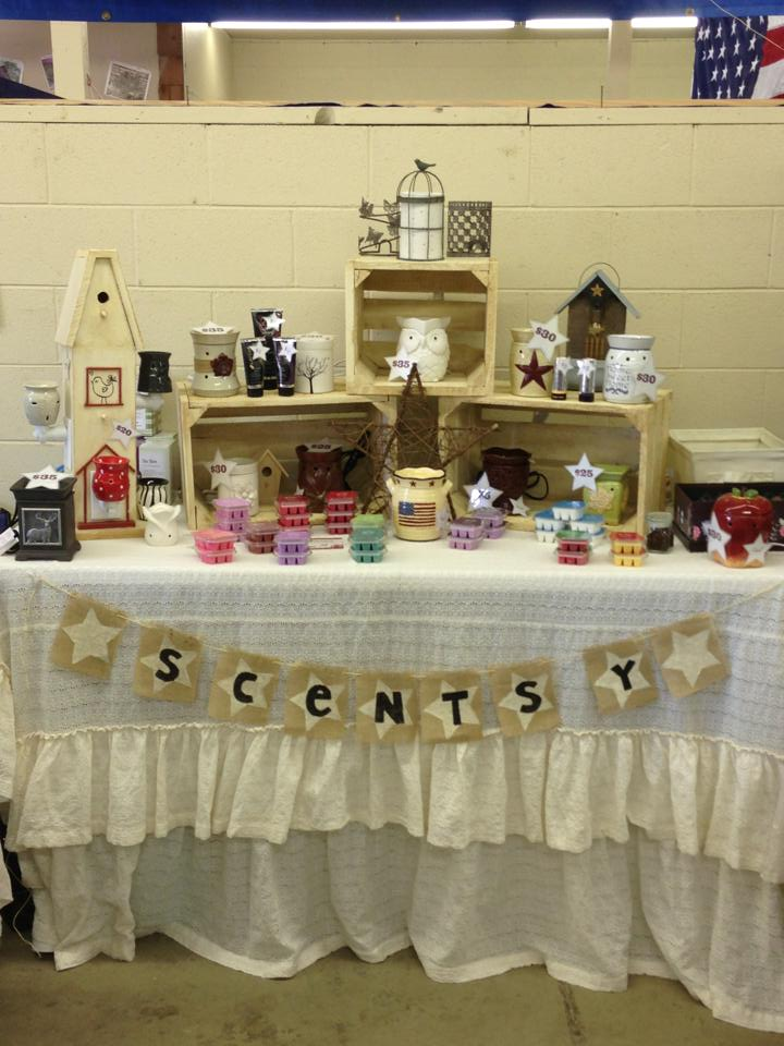 The Sassy Homemaker My Scentsy Booth Display At The