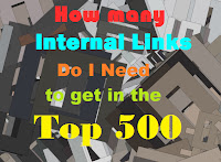 How many Internal links should I have to get into top 500?