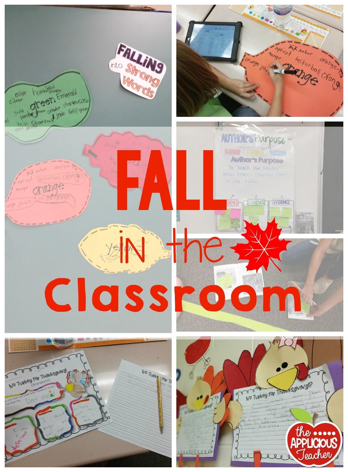 Fall and Turkey Fun! | The Applicious Teacher | Bloglovin'