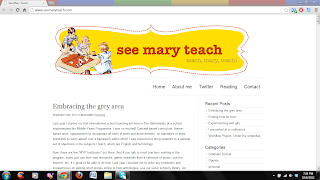 The blog screenshot of Ms. Mary Worrell