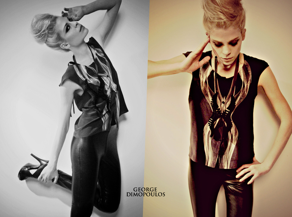 EDITORIAL SHOOTING for Fashion Designer MELISSA DIAMANTIDI UK feat Top Model NIKKI ERMI by GEORGE D