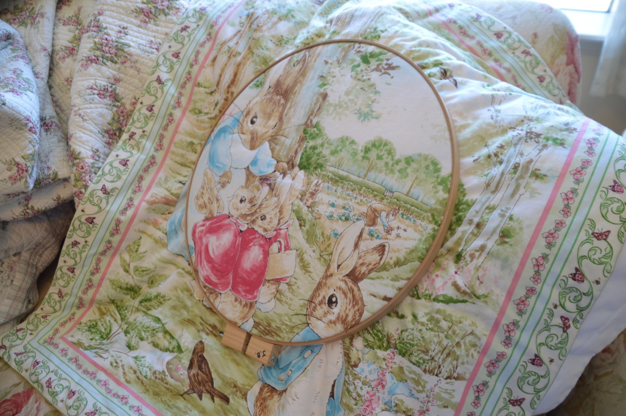 Knitting Pattern For Peter Rabbit Blanket : The Old Fashioned Baby Sewing Room: Peter Rabbit Baby Blanket