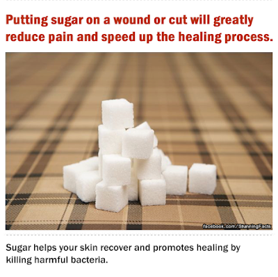 THE USE OF SUGAR TO ENHANCE WOUND HEALING