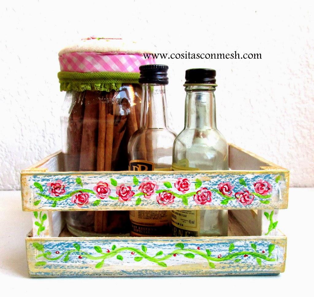 Manualidades cajitas decoradas para la cocina cositasconmesh - Cajitas de madera para decorar ...