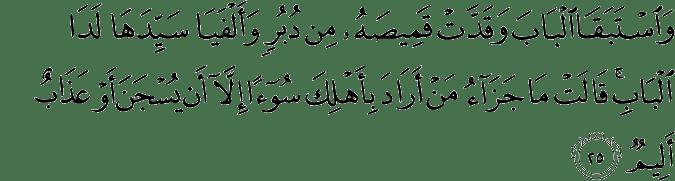 Surat Yusuf Ayat 25