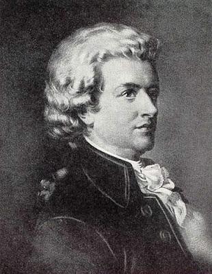 Imagen grabado de Mozart