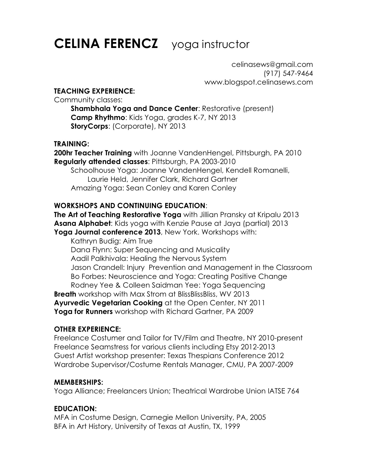 best resume for application fighter resume