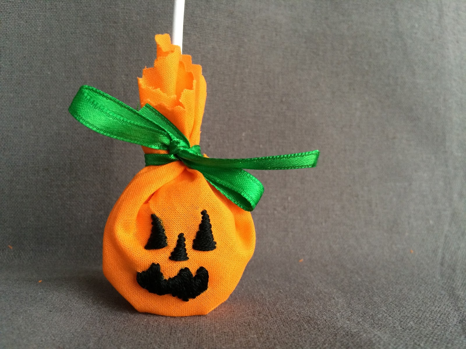 embroidered halloween pumpkin lollipop covers