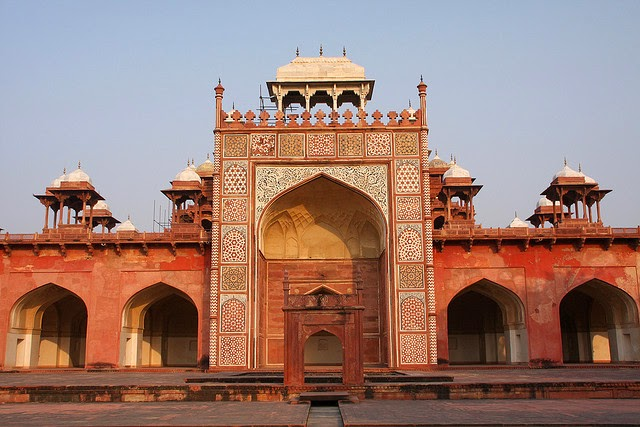Akbar tomb is the place built by akbar in agra
