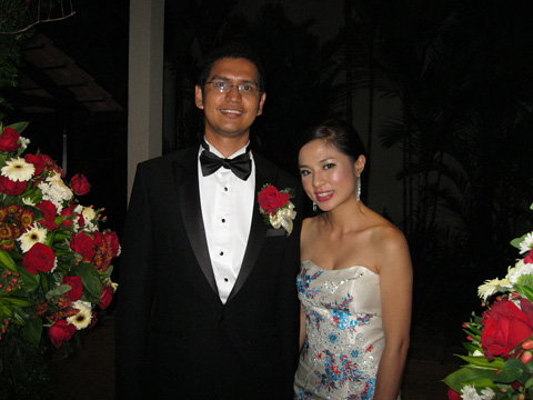 The newlyweds Nabil and Priscilla