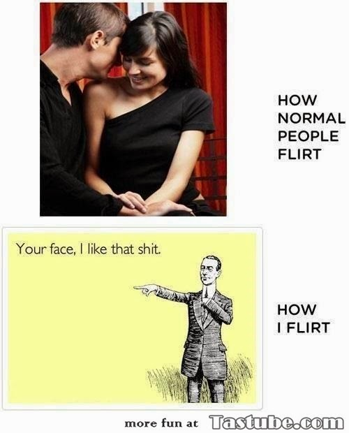 How normal people flirt