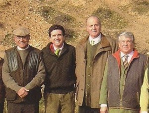 King Juan Carlos and friends, in a hunt