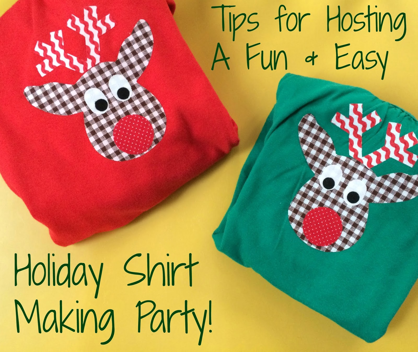 Kids Christmas Party Idea: Holiday Shirt Making Party - The Chirping ...