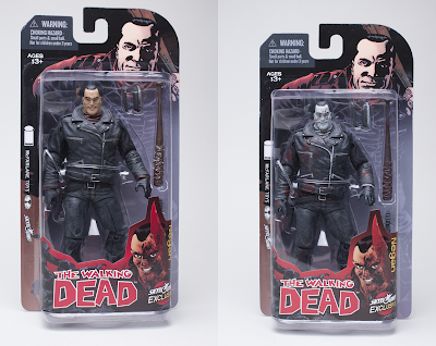 Skybound Entertainment Exclusive Negan The Walking Dead Comic Book Action Figures in Packaging by McFarlane Toys - Full Color and Bloody Black & White Variants
