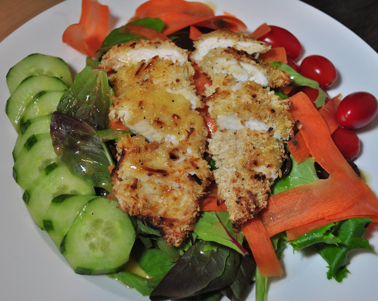 My Tiny Oven: Coconut Crusted Chicken Salad with Warm ...