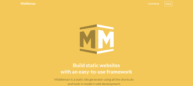 Middleman framework for static sites