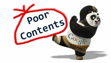 Panda kick poor content