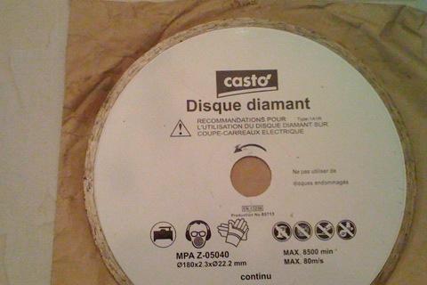 La bonne affaire disque diamant for Diamant coupe miroir