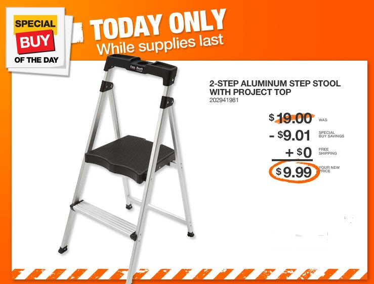 Coupon Stl Expired 2 Step Aluminum Step Stool 10 Shipped